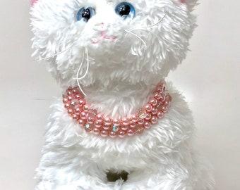 Pups jewelry, pet jewelry, pet necklace, dog necklace, cat necklace, pearls jewelry, pet collar, pet accessories, pet jewelry