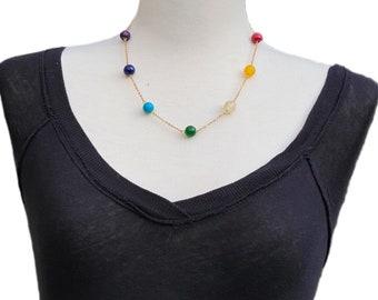 Chakra Gemstones Necklace