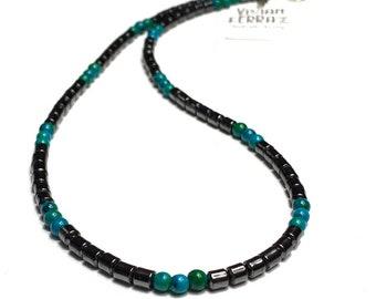 Beaded Necklace • Beach Style necklace • gemstone necklace • men's necklace • handmade necklace • bohemian necklace • unisex necklace