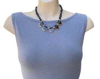 Statement necklace, Onyx necklace, black necklace, handmade necklace, gemstone necklace