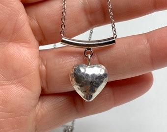 Brass heart, metal heart, heart pendant, heart necklace, copper heart, women's gift, wedding gift, valentine's day