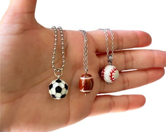 Sports Ball Pendant Necklace