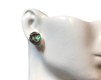 Stud earrings, abalone shell earrings, shell jewelry, earrings, handmade jewelry, small earrings, stud, studs, sea shell