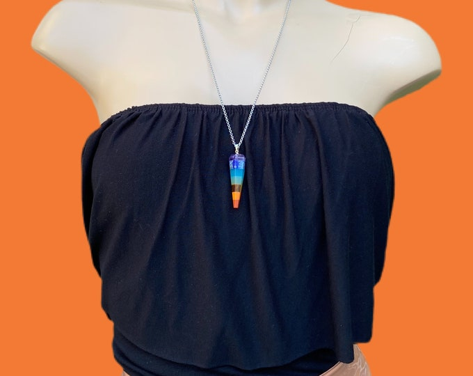Chakra's Gemstones Pendant Necklace