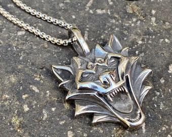Dragon Face Steel Necklace