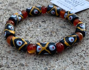 Carnelian & Ceramic Bracelet