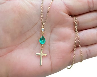 Dainty Cross Pendant Necklace