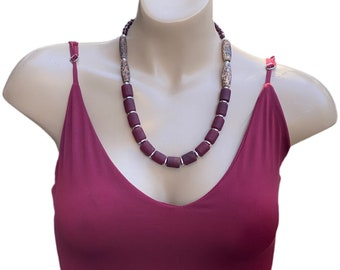 Beautiful Red Beaded Necklace