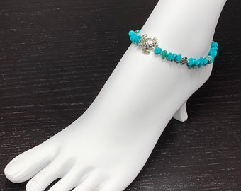 Turquoise Beaded Ankkets