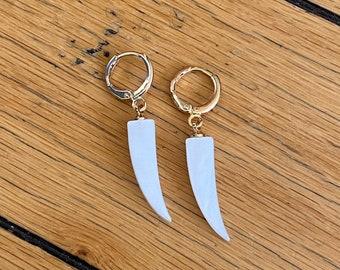 Tooth Dangling Hoop Earrings