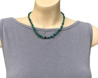 Malachite & Onyx Gemstones Necklace