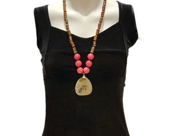 Knotted Long Gemstone necklace