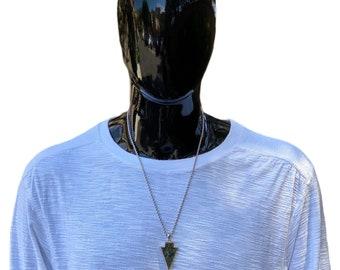 Arrow pendant necklace, Agate pendant, amulet pendant, arrow pendant, men necklace, gemstone necklace, silver necklace, men fashion