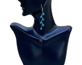 Turquoise Long Dangling Earrings