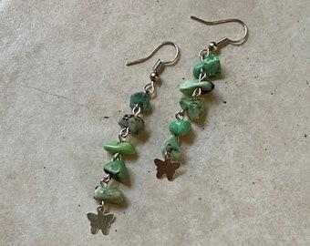 Dangling earrings, butterfly earrings, gemstone earrings, statement earrings, boho earrings, handmade earrings, beach style earrings
