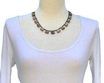 Choker, Brown Choker, Black Choker, Gemstone Necklace, Beaded Necklace, Beaded Choker, Handmade Necklace