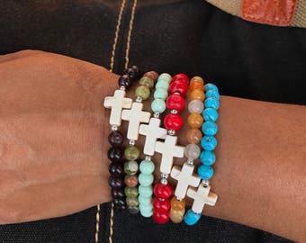 Baptism bracelets, wedding bracelets, first communion bracelets, cross bracelets, party favor gifts, handmade bracelets, catholic bracelets,
