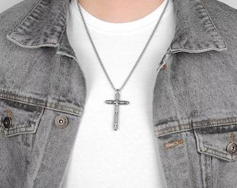 Stainless Steel Irish Cross Pendant Necklace