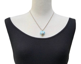 Ceramic Heart Silver Necklace