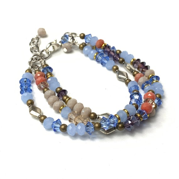 Beaded Bracelet • Multi Strands Bracelet • Bohemian Bracelet • Handmade Bracelet • Women's Bracelet