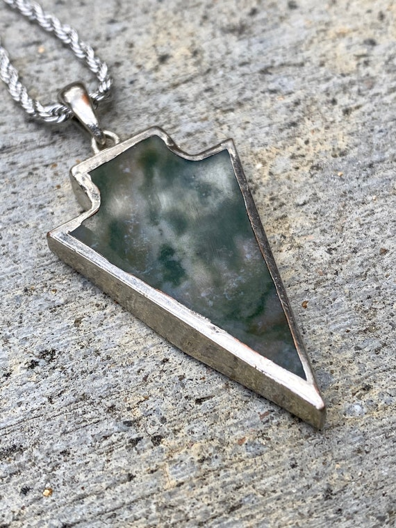 Arrow pendant necklace, Agate pendant, amulet pendant, arrow pendant, men necklace, gemstone necklace, silver necklace, men fashion