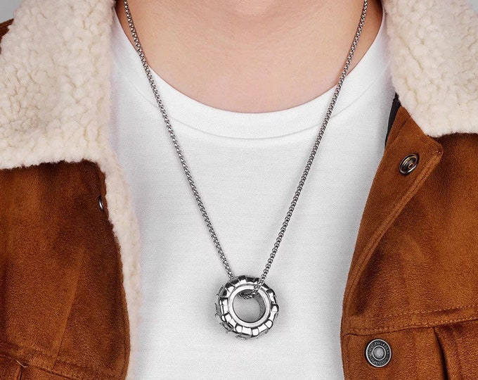 Cool  Stainless Steel Tire Necklace