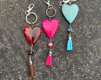 Beautiful heart Key chain