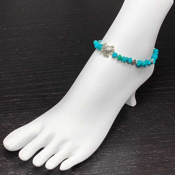 Anklets, Beaded Ankkets, Ankle Bracelet, Ankket, Gemstone Bracelets, Turquoise Bracelet