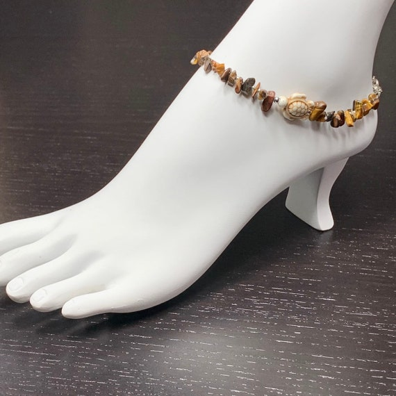 Anklets, Beaded Ankkets, Ankle Bracelet, Ankket, Gemstone Bracelets, Tiger Eye Bracelet
