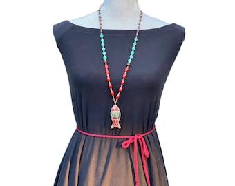 Tibetan Fish Pendant Necklace