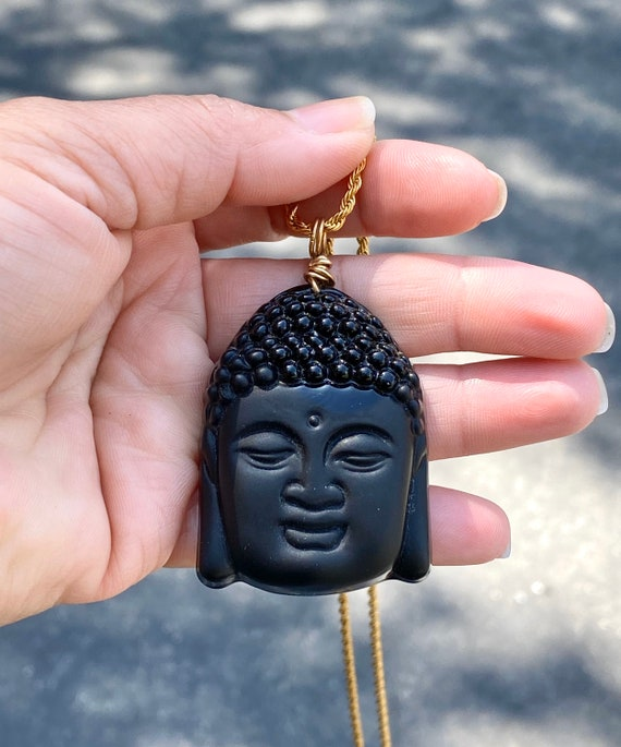 Buddha necklace, Gemstone pendant, amulet pendant, good luck pendant,men's necklace, man's necklace, gold necklace