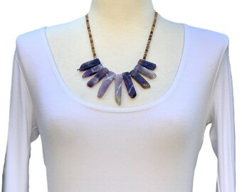 Amethyst Spikes Necklace