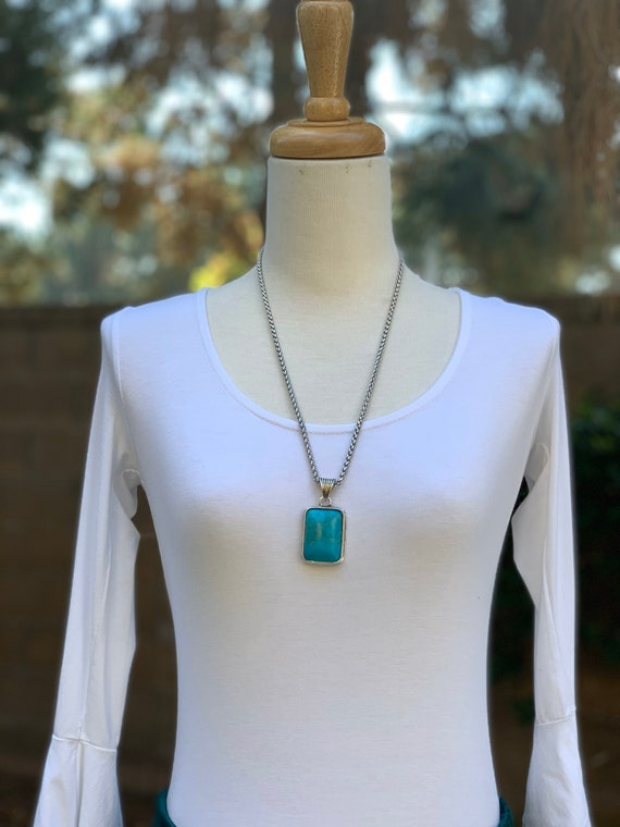 Turquoise Necklace, Pendant Necklace, Handmade Necklace, Women's Necklace, Gemstone Necklace