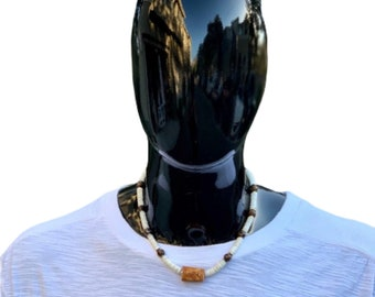 Puka shell & Tiger's Eye Necklace
