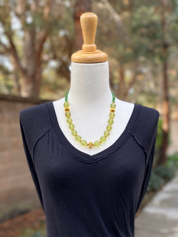 Beaded Necklace, Green necklace, gemstone necklace, women's necklace, handmade necklace, bohemian necklace, Crystal necklace