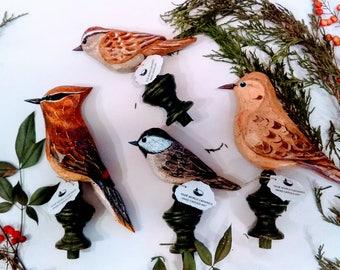 4  Carved Bird Finials (Poster Bed Birds)