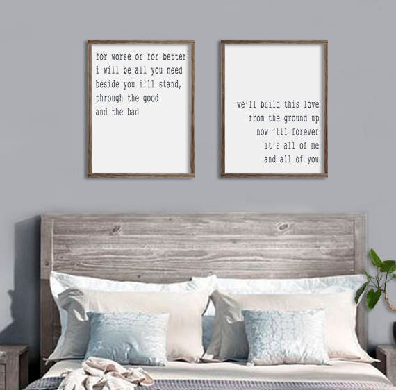 Guest Room Sign Decor: Bedroom Wall Decor From The Ground Up All Of Me Loves All