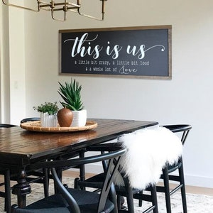 Sign Farmhouse Wall Decor Dining Room, Dining Room Signs
