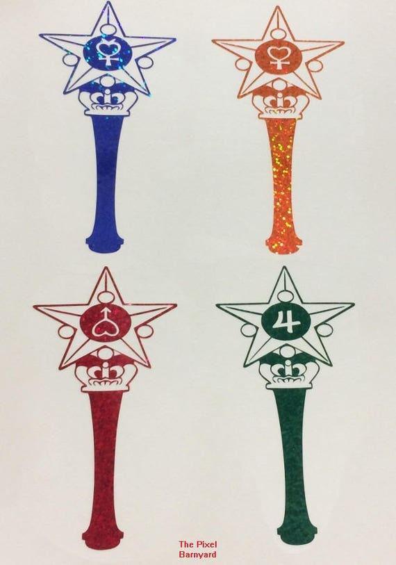 Star Power Stick Vinyl Decals For Sailor Jupiter Mars