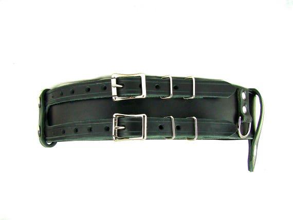 1324402a21e1 Kilt ceinture Double boucle ceinture ceinture D anneau ceinture Pirate  ceinture rangement ceinture en cuir noir