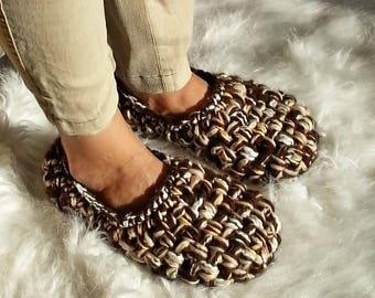 Super CHUNKY Slippers, Crochet SLIPPERS, Womens slippers, Women's gift, Gift for Her, Birthday gift, SOFT, light, healthy home shoes