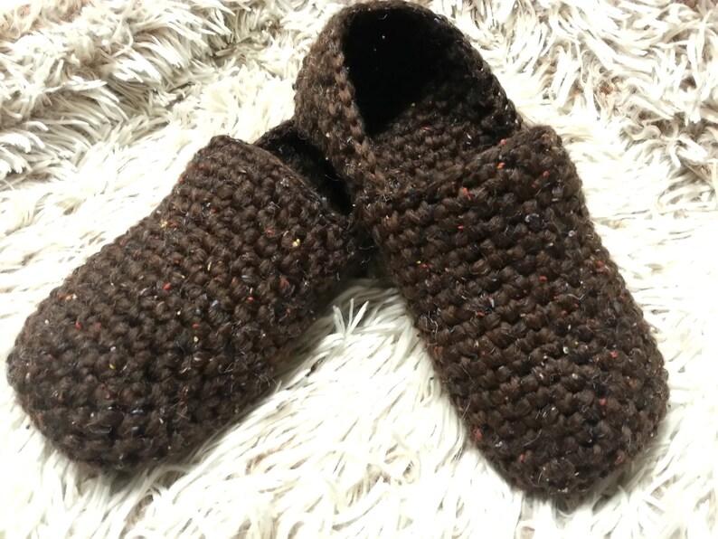 d4deb543414ac Mens Crochet Slippers Men's House shoes Men Loafers Non-slip Slippers Adult  Slippers Gift for Men House Slippers for Men EllenaKnits Slipper