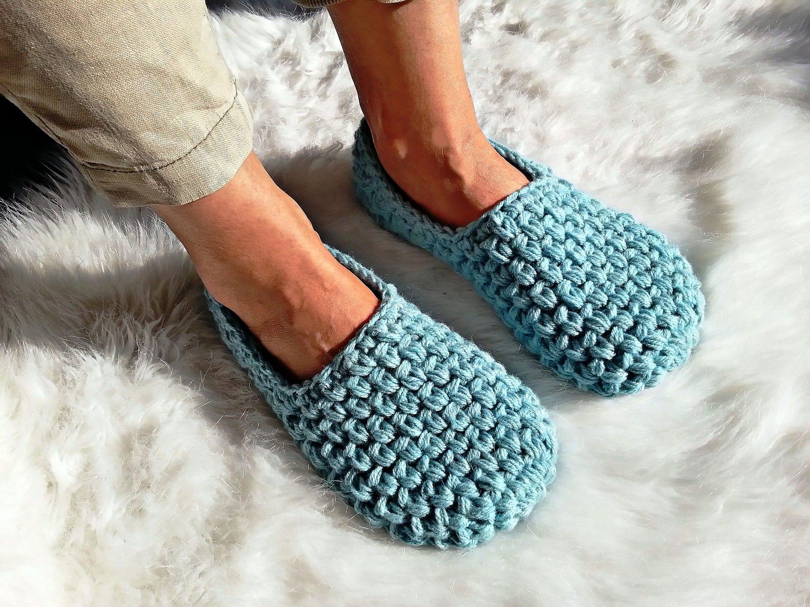 women's slippers, turquoise ballet flats, vegan shoes, slipper socks, women's gift, non slip bottom, girlfriend's gi