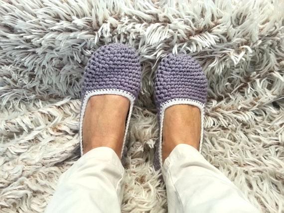 Häkeln Sie Baumwolle Hausschuhe Geschenk Für Frauen Gesunde Etsy