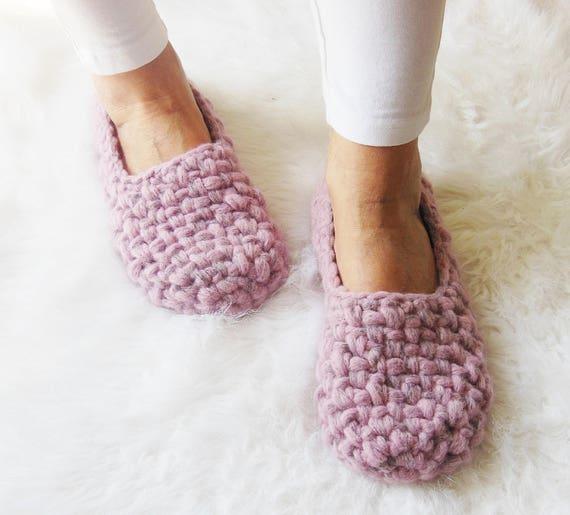 Damen Hausschuhe Merino Wolle Hausschuhe Häkeln Pantoffeln Etsy