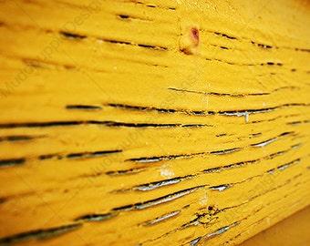 ABSTRACT Photography PRINT Calming YELLOW Perfect housewarming Gift Paint Peels, Rustic Natural MuddpuppieDesigns wall art, modern macro
