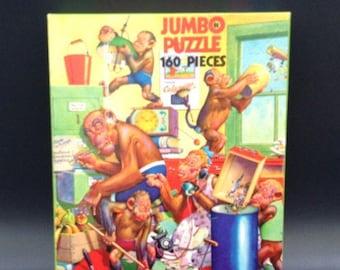 1950s vintage jig saw puzzle by Jumbo Gran Pop Sales #1361