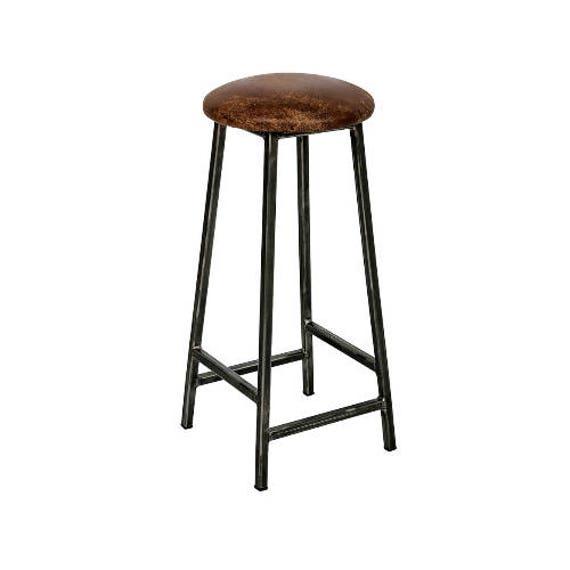 Blocchi Cad Sgabelli Bar.Bertie Tanner Sgabello Da Bar Industriale Sedile Di Cuoio
