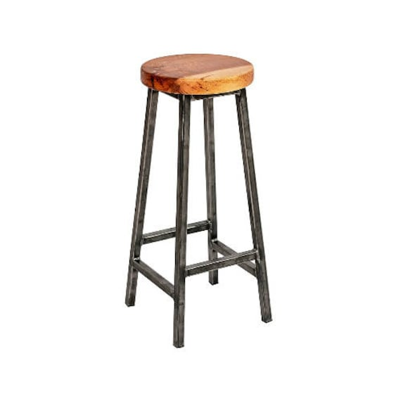 Brilliant Charlie Elmsworth Chunky Square Frame Bar Stool With Chunky Elm Seat Creativecarmelina Interior Chair Design Creativecarmelinacom