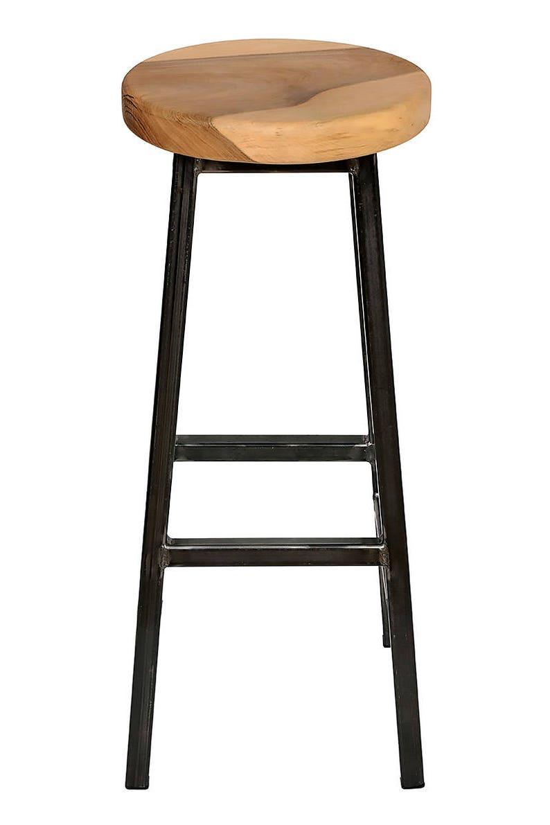 Charlie Walters _ grosso Square Frame Bar sgabello con sedile wGi2cIIa
